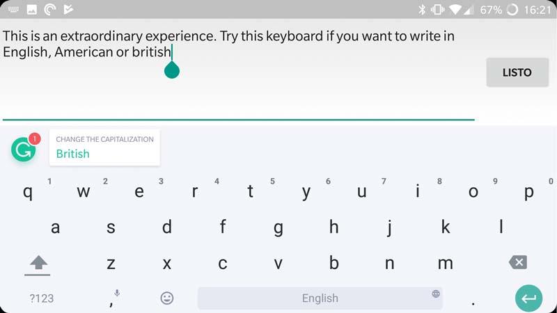 teclado gramatical