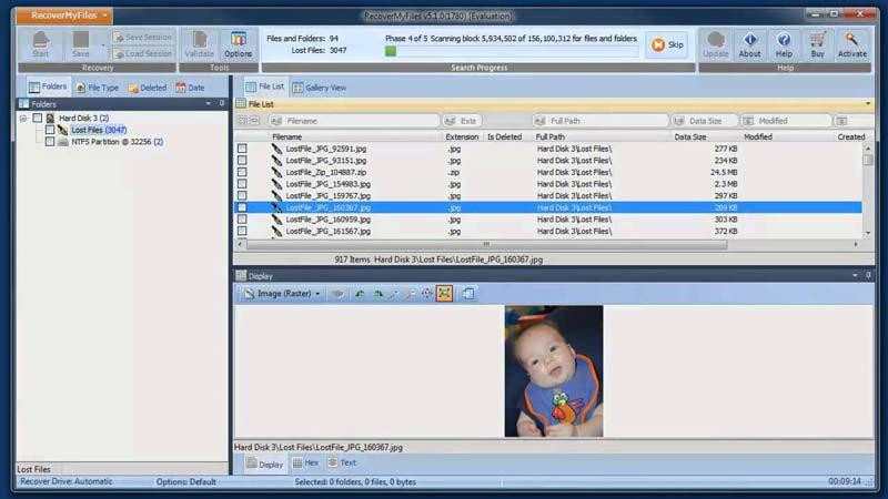 herramientas profesional de recuperación de los datos